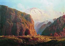 Ilya Zankovsky North Caucasus paintings Dagestan