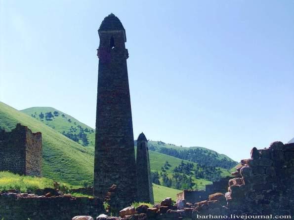Ingushetia Targim towers north caucasus mountains