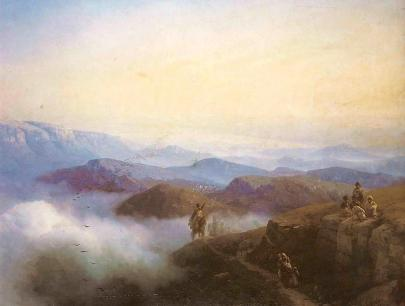 Ivan Aivazovsky riders in the Caucasus