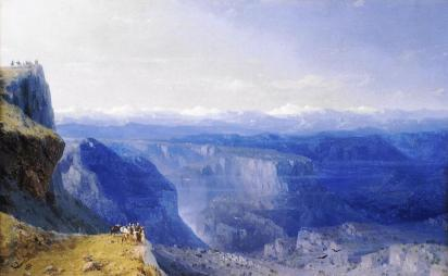 Ivan Aivazovsky The Caucasus mountains paintings