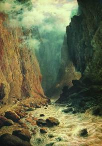 Rufin Sudkovsky 1884 Darial gorge North Caucasus mountains landscape