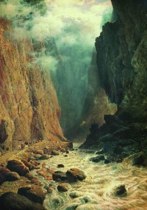 Rufin Sudkovsky 1884 Darial gorge North Caucasus mountains landscape