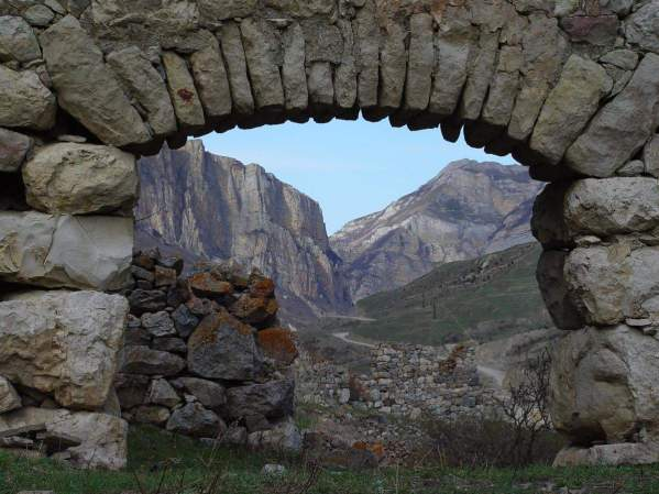 ruins in Upper Balkaria Kabardino-Balkaria caucasus mountains