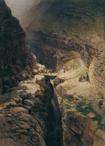 Sagretlinskaya crossing 1880 North Caucasus mountains