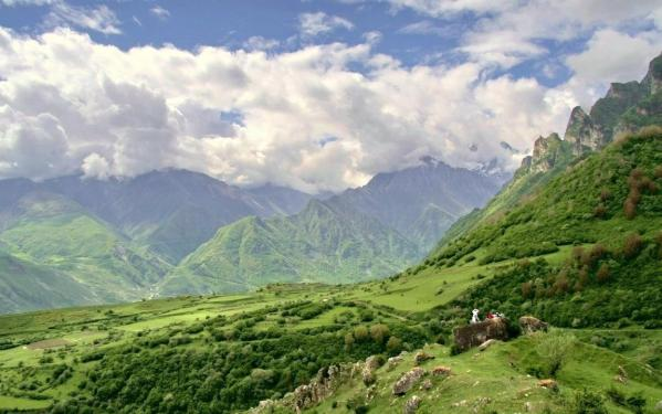 Upper Balkaria Kabardino-Balkaria caucasus mountains beautiful natural scenery