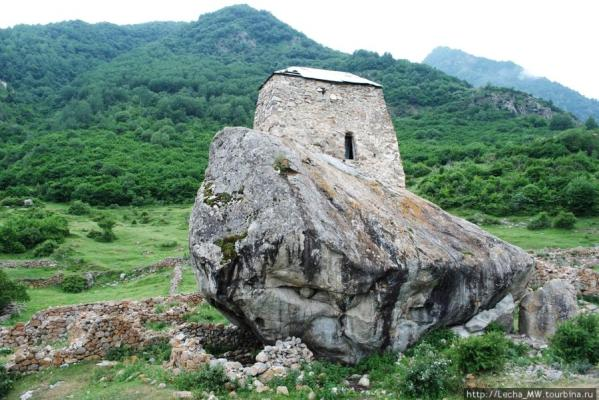 Upper Balkaria rock towers caucasus mountains beautiful natural scenery