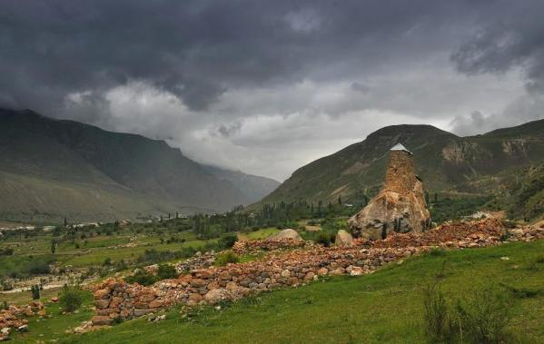Upper Balkaria stone towers fortresses caucasus mountains beautiful natural scenery