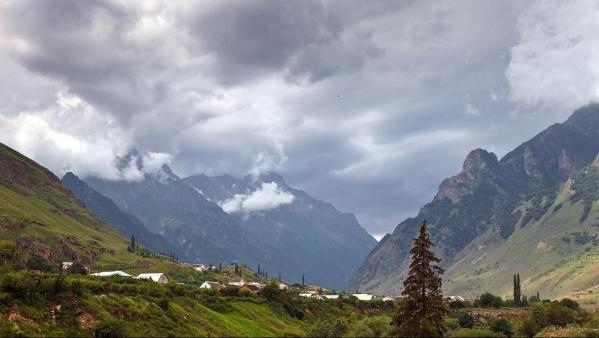village upper Kabardino-Balkaria north caucasus mountains natural scenery