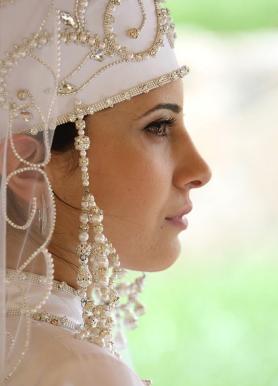 Balkar women traditional costume Caucasus people