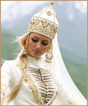 Balkar women traditional costume