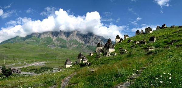 Dargavs necropolis dead town North Ossetia crypts North Caucasus mountains