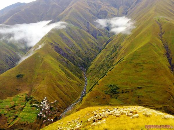 Görele village Dagestan north Caucasus mountains