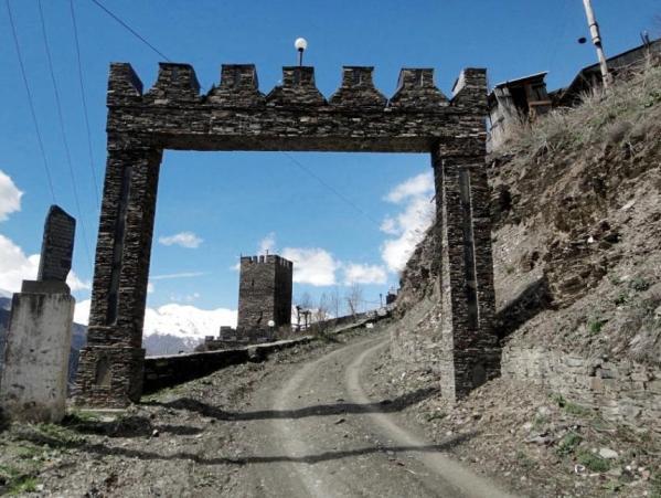 Gebguda gate Dagestan north Caucasus mountains 2