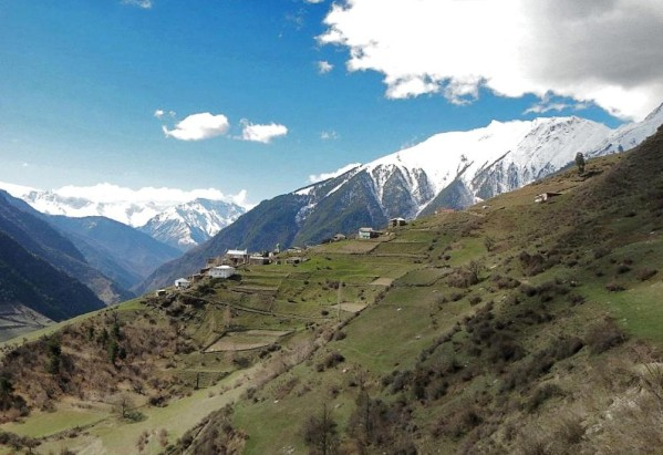Gebguda Tlyaratinsky Dagestan mountains north Caucasus