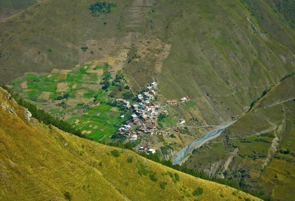Gorele village Dagestan Caucasus mountains