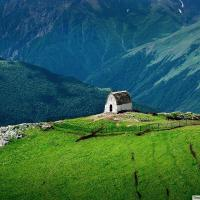 Sacred mountain of Ingushetia (central Caucasus mountains)