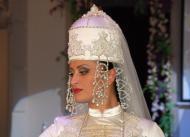 Karachay Balkar girl traditional dress Caucasus people