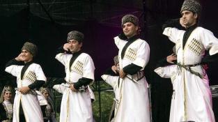 Karachay Balkar men traditional costume Caucasus people