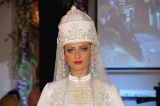 Karachay Balkar women wedding dress Caucasus people