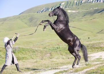 Karachay men Caucasus mountains people