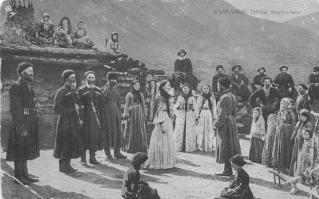 Karachay men women XIX century Caucasus people