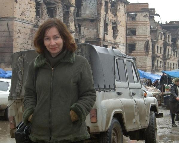 Natalia Estemirova in Grozny Chechnya war Russia victim