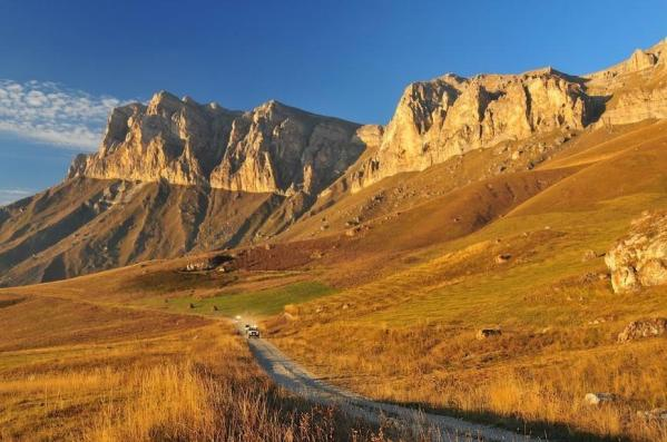 Rocky Ridge Central Caucasus mountains eastern europe landscapes