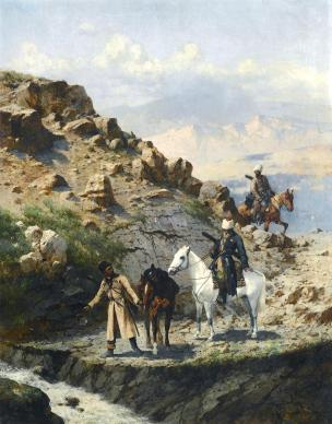 Franz Alexeevich Roubaud Caucasus mountains paintings