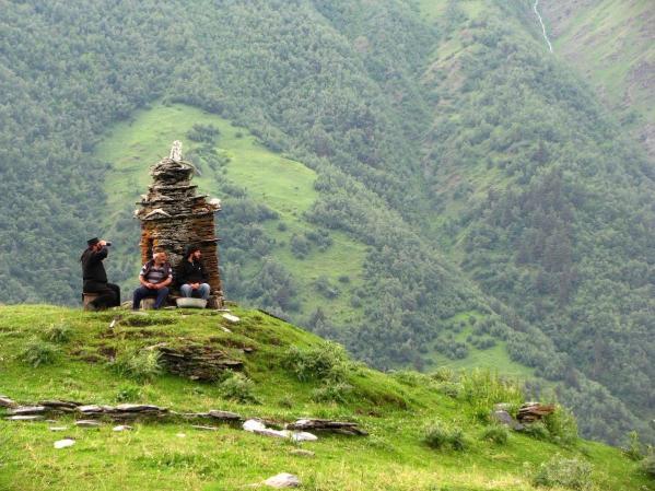 georgian men Anatori  Khevsureti medieval pagan crypt Georgia eastern europe north Caucasus mountains