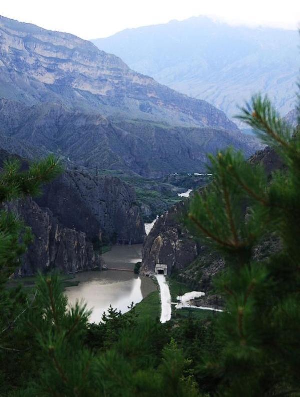 Gunibskaya dam Dagestan Karakoysu river Caucasus mountains