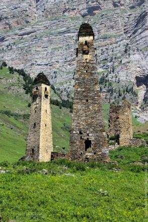Ingushetia medieval Nij towers North Caucasus mountains eastern europe