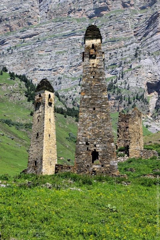 Ingushetia medieval Nij towers North Caucasus mountains eastern europe