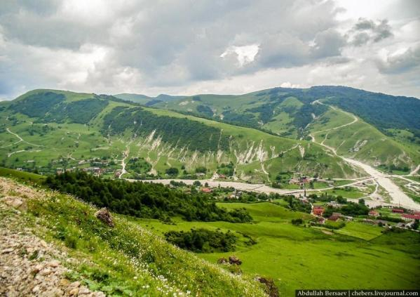 Karachoy village Chechnya landscape Caucasus mountains
