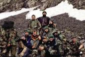 Roddy Scott with Chechen rebels before death Chechnya Russia war north Caucasus mountains