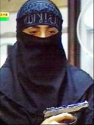 Chechen female terrorist in Moscow during the 2002 theater siege